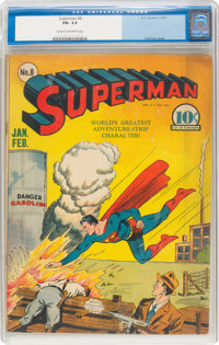Superman #8 (DC, 1941) CGC FN- 5.5 Cream to off-white pages