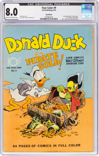 Four Color #9 Donald Duck - Rockford Pedigree (Dell, 1942) CGC VF 8.0 Cream to off-white pages