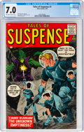 Silver Age (1956-1969):Science Fiction, Tales of Suspense #1 (Marvel, 1959) CGC FN/VF 7.0 Off-white to white pages....