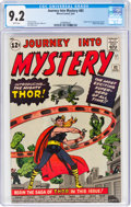 Silver Age (1956-1969):Superhero, Journey Into Mystery #83 (Marvel, 1962) CGC NM- 9.2 White pages....