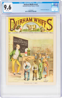 Durham Whiffs V1#1 and Tobacco Insert (Blackwells Durham Tobacco, 1878) CGC NM+ 9.6 White pages.... (Total: 2 Items)