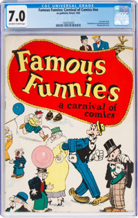 Famous Funnies: A Carnival of Comics #nn (Eastern Color, 1933) CGC FN/VF 7.0 Off-white to white pages