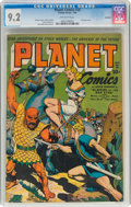 Golden Age (1938-1955):Science Fiction, Planet Comics #28 Rockford Pedigree (Fiction House, 1944) CGC NM- 9.2 Off-white pages....