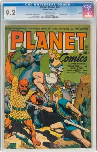 Planet Comics #28 Rockford Pedigree (Fiction House, 1944) CGC NM- 9.2 Off-white pages