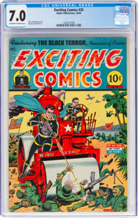 Exciting Comics #35 (Nedor/Better/Standard, 1944) CGC FN/VF 7.0 Off-white to white pages