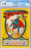 Superman #1 (DC, 1939) CGC FR 1.0 Off-white to white pages