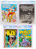 Bronze Age (1970-1979):Alternative/Underground, Underground Comix CGC-Graded Group of 5 (Various Publishers, 1969-84).... (Total: 5 Comic Books)