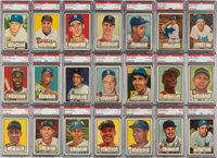 1952 Topps Baseball PSA Graded Complete Set (407) With Mantle PSA EX+ 5.5