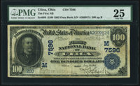 Utica, OH - $100 1902 Date Back Fr. 689 The First National Bank Ch. # (M)7596 PMG Very Fine 25