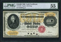 Large Size:Gold Certificates, Fr. 1225e $10,000 1900 Gold Certificate PMG About Uncirculated 55.. ...