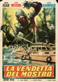 "Movie Posters:Horror, Revenge of the Creature (Universal International, 1955). Folded, Fine/Very Fine. Italian 2 - Fogli (39"" X 55"").. ..."