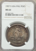 Philippines, Philippines: USA Administration Peso 1907-S MS63 NGC,...