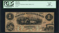 Dalton, GA- Planters and Mechanics Bank of Dalton $1 July 1, 1855 PCGS Very Fine 25