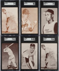 Baseball Cards:Sets, 1962 and 1963 Red Stat Back Exhibit Complete Sets (2). ...
