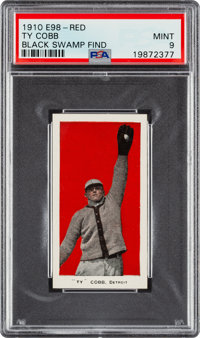 "1910 E98 ""Set of 30"" Ty Cobb (Red) - PSA Mint 9 - Black Swamp Find"