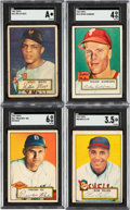 Baseball Cards:Lots, 1952 Topps Baseball Collection (304) Including 10 High #'s. ...