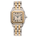 Estate Jewelry:Watches, Cartier Lady's Gold, Stainless Steel Panthere Watch . ...