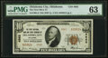 National Bank Notes:Oklahoma, Oklahoma City, OK - $10 1929 Ty. 2 The First National Bank & Trust Company Ch. # 4862 PMG Choice Uncirculated 63.. ...