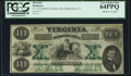 Obsoletes By State:Virginia, Richmond, VA- Commonwealth of Virginia $10 Oct. 15, 1862 Cr. 10 PCGS Very Choice New 64PPQ.. ...