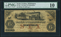 Wilmington, NC- Bank of Wilmington $6 Sep. 10, 1855 G6a Pennell 1430 PMG Very Good 10
