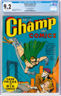 Golden Age (1938-1955):Superhero, Champ Comics #12 Mile High Pedigree (Harvey, 1941) CGC NM- 9.2 White pages....