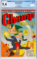 Golden Age (1938-1955):Superhero, Champ Comics #14 Mile High Pedigree (Harvey, 1941) CGC NM 9.4 Off-white to white pages....