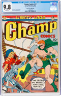 Golden Age (1938-1955):Superhero, Champ Comics #17 Mile High Pedigree (Harvey, 1942) CGC NM/MT 9.8 White pages....
