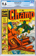 Golden Age (1938-1955):Superhero, Champ Comics #18 Mile High Pedigree (Harvey, 1942) CGC NM+ 9.6 White pages....