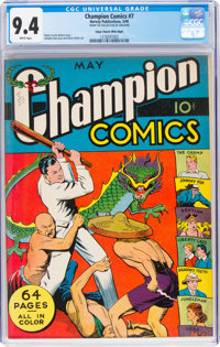 Champion Comics #7 Mile High Pedigree (Harvey, 1940) CGC NM 9.4 White pages