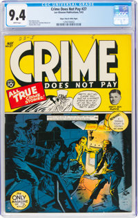Crime Does Not Pay #27 Mile High Pedigree (Lev Gleason, 1943) CGC NM 9.4 White pages