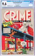 Golden Age (1938-1955):Crime, Crime Does Not Pay #30 Mile High Pedigree (Lev Gleason, 1943) CGC NM+ 9.6 White pages....