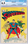 Golden Age (1938-1955):Superhero, Superman #17 (DC, 1942) CGC FN+ 6.5 White pages....
