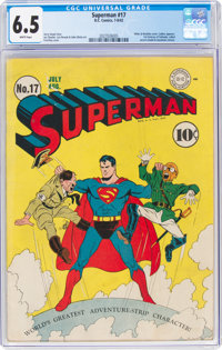 Superman #17 (DC, 1942) CGC FN+ 6.5 White pages