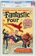 Silver Age (1956-1969):Superhero, Fantastic Four #4 (Marvel, 1962) CGC NM+ 9.6 White pages....