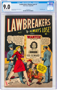 Lawbreakers Always Lose! #1 (Marvel, 1948) CGC VF/NM 9.0 Off-white to white pages