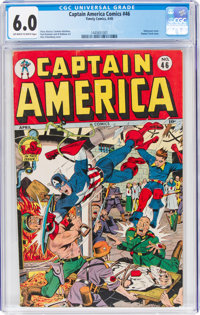 Captain America Comics #46 (Timely, 1945) CGC FN 6.0 Off-white to white pages