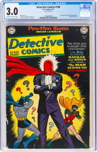 Detective Comics #168 (DC, 1951) CGC GD/VG 3.0 Off-white to white pages