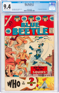 Blue Beetle #1 (Charlton, 1967) CGC NM 9.4 Off-white to white pages