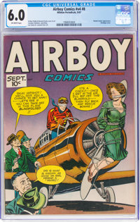 Airboy Comics V4#8 (Hillman Fall, 1947) CGC FN 6.0 Off-white pages