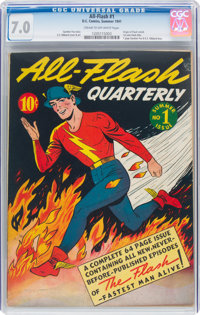 All-Flash #1 (DC, 1941) CGC FN/VF 7.0 Cream to off-white pages