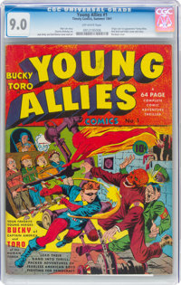 Young Allies Comics #1 (Timely, 1941) CGC VF/NM 9.0 Off-white pages