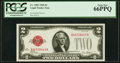 Fr. 1501 $2 1928 Legal Tender Note. PCGS Gem New 66PPQ