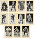 Autographs:Sports Cards, Signed 1944 - 1963 Bee Hive Hockey (Group Two) Montreal Canadians (48). ...