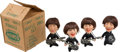 Music Memorabilia:Memorabilia, The Beatles Vintage Set of Dolls (4) with Original Catalogue Sales Shipping Box by Remco (NEMS Seltaeb, 1964). ...