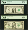 Misaligned Face Printing Fr. 1911-K $1 1981 Federal Reserve Note. PCGS Choice About New 58PPQ; Misaligned Back ... (Tota...