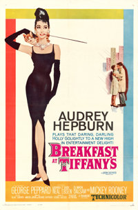 "Breakfast at Tiffany's (Paramount, 1961). Folded, Very Fine. One Sheet (27"" X 41""). Robert McGinnis Artwork..."