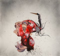 Paintings, Wangechi Mutu (b. 1973). Aztec Connection, 2005. Acrylic, ink, spray paint, and paper collage on Mylar. 24-1/2 x 29-1/2 ...