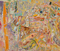 Paintings, Larry Poons (b. 1937). A Fortune of Solitude, 2001. Mixed media on canvas. 80-3/4 x 93-1/2 inches (205.1 x 237.5 cm). Si...