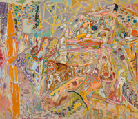 Larry Poons (b. 1937) A Fortune of Solitude, 2001 Mixed media on canvas 80-3/4 x 93-1/2 inches (2