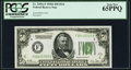 Small Size:Federal Reserve Notes, Fr. 2101-F $50 1928A Dark Green Seal Federal Reserve Note. PCGS Gem New 65PPQ.. ...